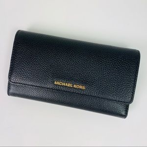 Michael Kors Tri-Fold Pebbled Leather Wallet